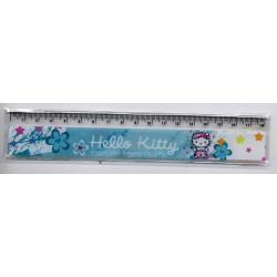 Hello Kitty Règle plate bleue