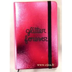 Carnet Glitter Forever A6 rose