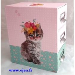 Fun Kittens Boite 3 tiroirs