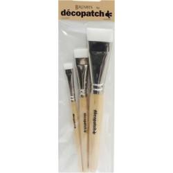 Pack 3 Brosses nylon Décopatch