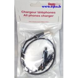Zip chargeur téléphone noir