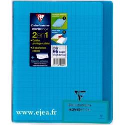 Cahier Kover Book bleu 17x22cm