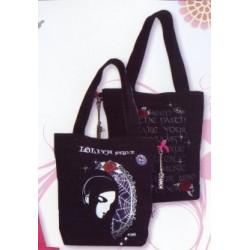 Sac shopping Kawaïko noir