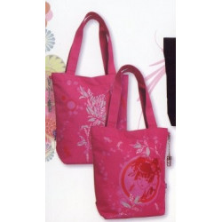 Sac shopping Kawaïko fuchsia