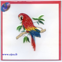 Carte Perroquet en papier...