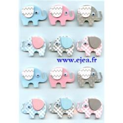Stickers Effet 3D Eléphants