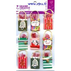 Stickers Effet 3D Sac cadeaux