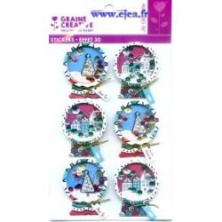 Stickers Effet 3D Boules à...