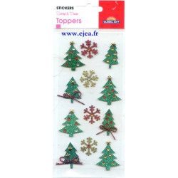 Stickers Toppers Sapins et...