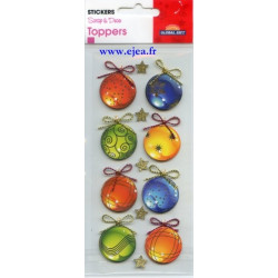 Stickers Toppers Boules de...