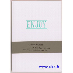 Carnet A5 LetterPress Enjoy
