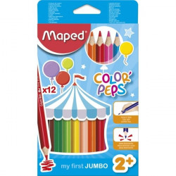 12 crayons de couleur jumbo...