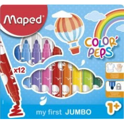 12 feutres jumbo Maped...