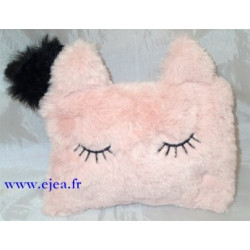 Trousse chat peluche