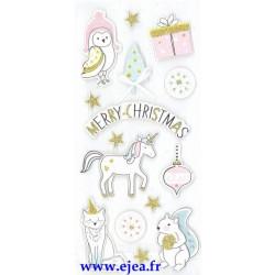 Stickers Sceny Noël Animaux...