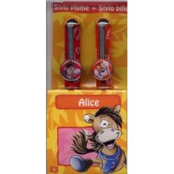 Parure stylos Diddl Alice