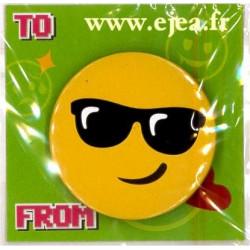 Badge Emoji Lunettes de soleil