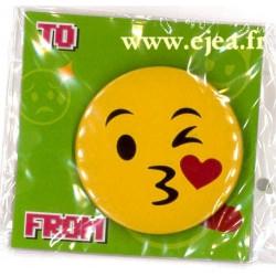 Badge Emoji Bisou