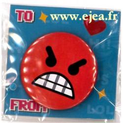 Badge Emoji En colère