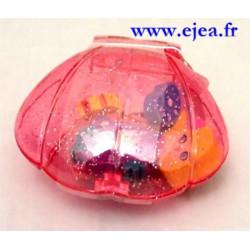 Gommes Sirène Coquillage rose