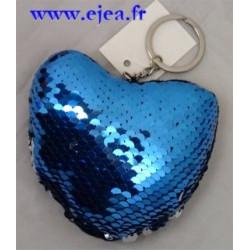 Porte-clé Coeur Sequins...