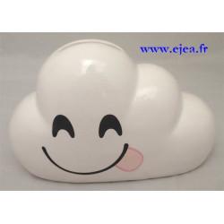 Tirelire nuage blanc espiègle