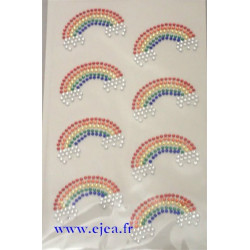 Stickers Strass 8 arc-en ciel