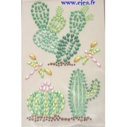 Stickers Strass Cactus
