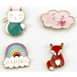 Pins Kawaii Set de 4 pin's