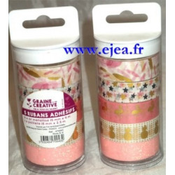 Tubo 5 masking tape rose et or