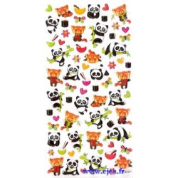 Stickers TWEENY Pandas et...