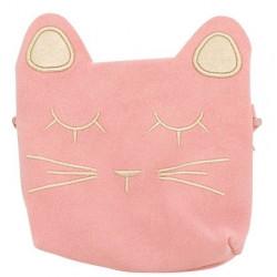 Petit sac tête de chat rose