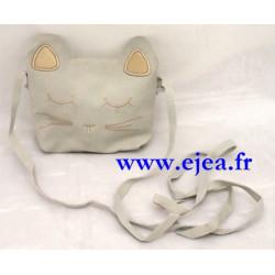 Petit sac tête de chat gris