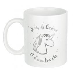 Mug Licorne argenté