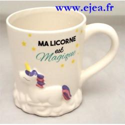 Mug Licorne rose 3D