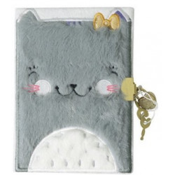 Journal intime Chat en peluche