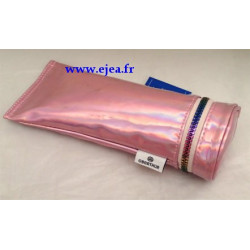 Trousse tube rose