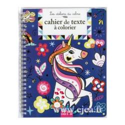 Cahier de textes à colorier...