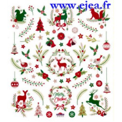 Stickers Classy Noël Nature