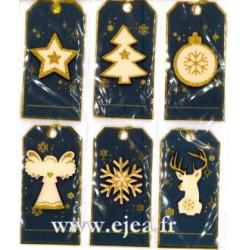 Set 6 étiquettes cadeaux...