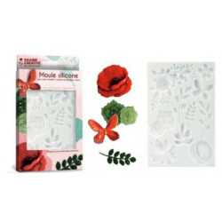 Moule silicone Floral