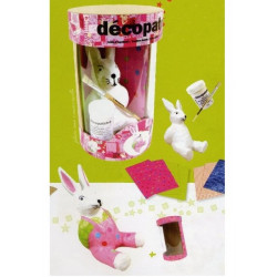 Kit Lapin rose Décopatch