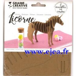 Trophée Licorne en carton à...