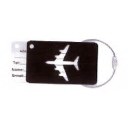 Etiquette de bagage Avion Noir