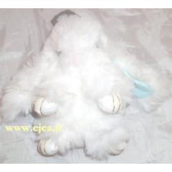 Porte-clé Lapin peluche blanc