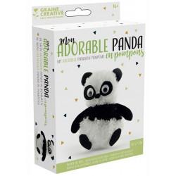 Mon adorable panda en pompons