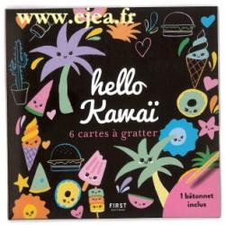 Hello Kawaï 6 mini cartes à...