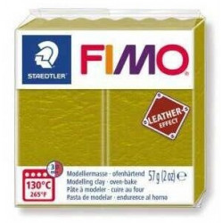Fimo Effet Cuir Olive 519