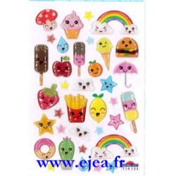 Stickers Mini Sweet Miam kawaï