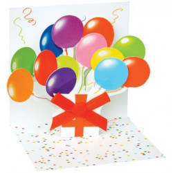 Mini carte pop-up Ballons